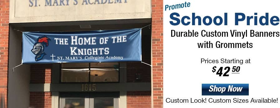Durable Custom Designed Vinyl Banners with Grommets