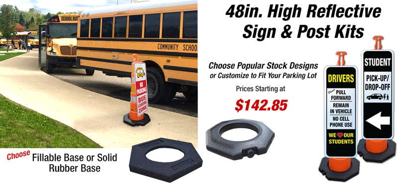 New Portable Reflective Sign & Post Kits
